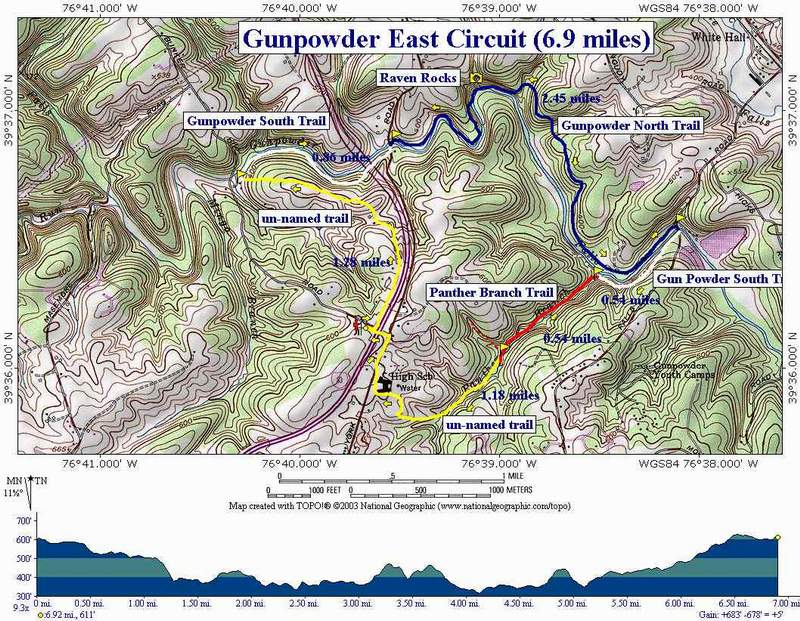 Gunpowder Falls State Park Map Gunpowder Falls East