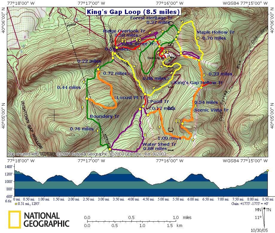 King's Gap on gap dayton map, gap bike path map, oklahoma atv trails map, fulda gap map, delaware water gap map,