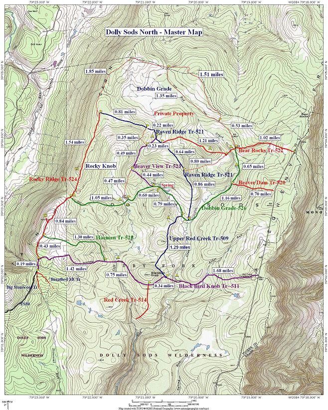 Dolly Sods North Master Map