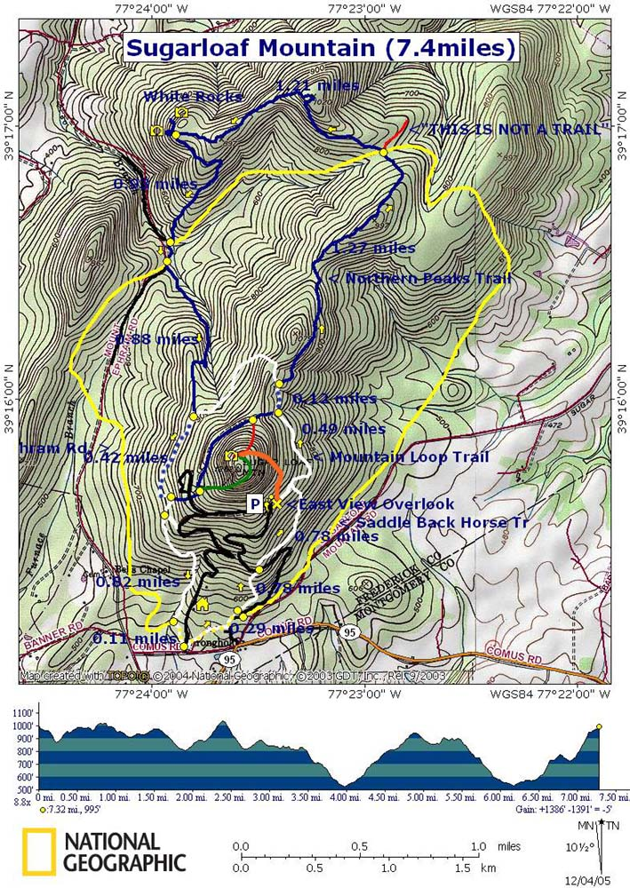 Gallery For Gt Sugarloaf Mountain Map